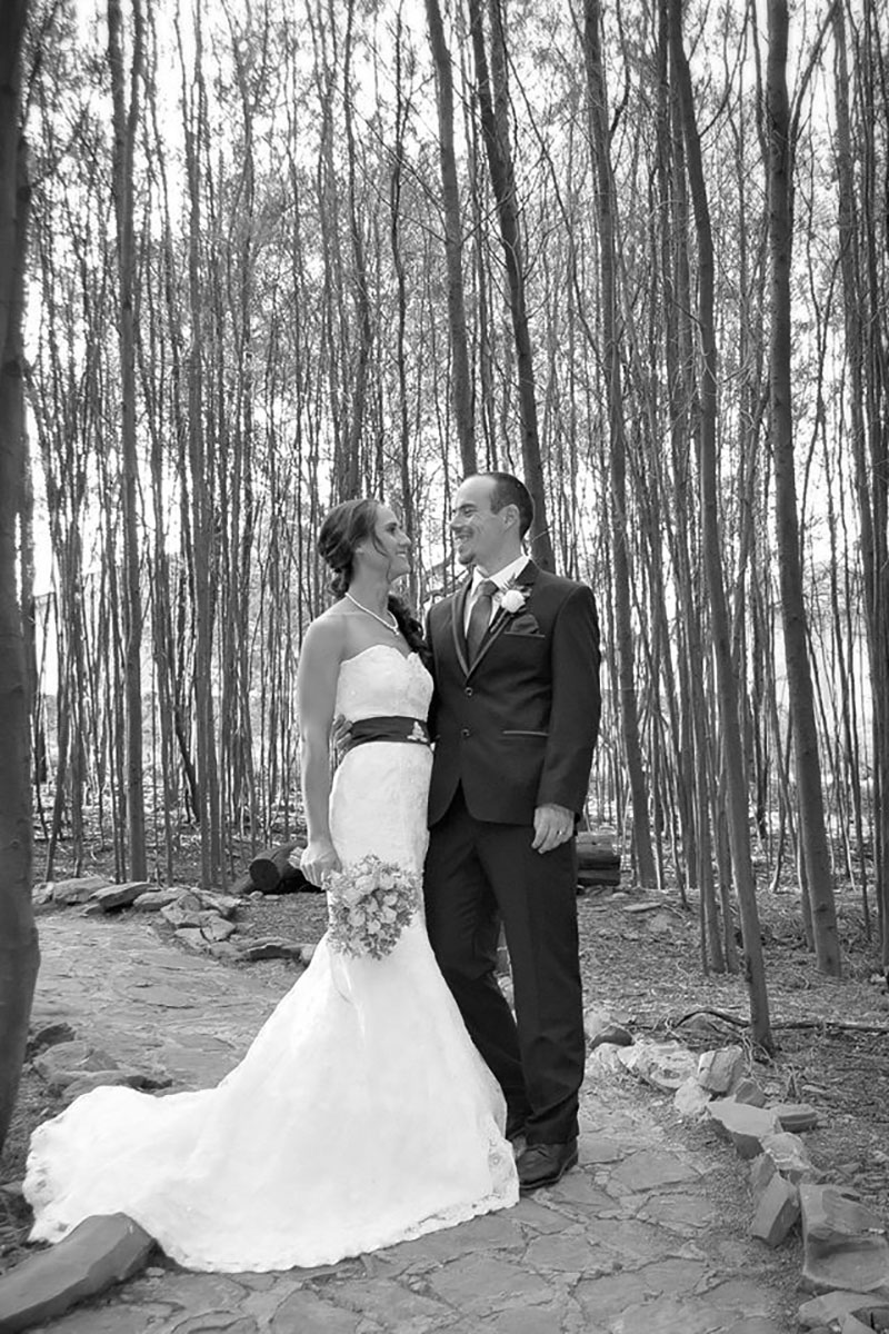 Forest Wedding Chapel Couple