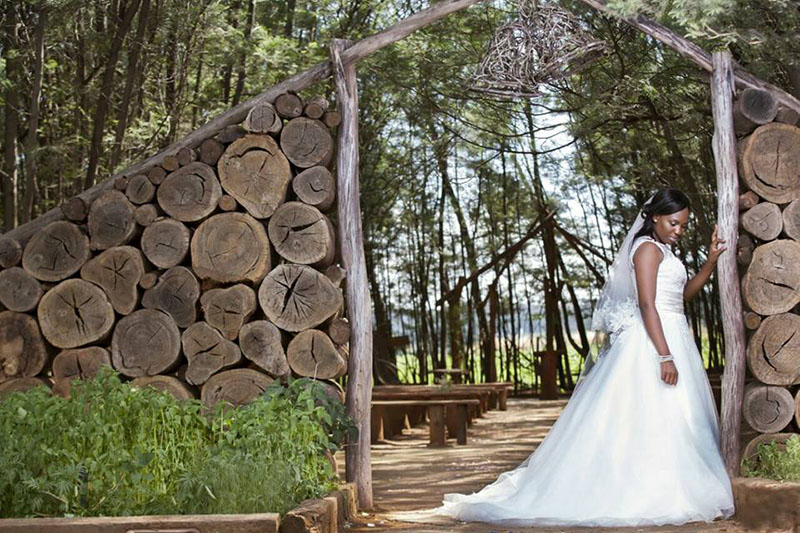 Forest Wedding Chapel Bride