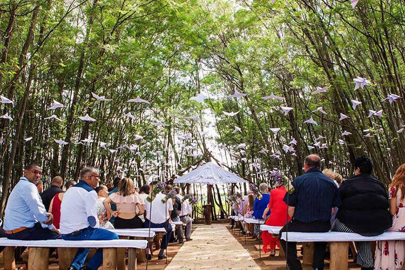 Forest Wedding Chapel Seating